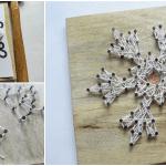 DIY, Çivi İşi Kar Tanesi Pano Yapımı 12