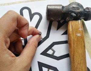 DIY, Çivi İşi Kar Tanesi Pano Yapımı 1