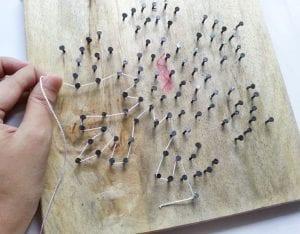 DIY, Çivi İşi Kar Tanesi Pano Yapımı