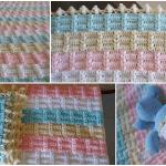 Ekose Desenli Fıstıklı Bebek Battaniyesi Yapımı 10