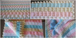 Ekose Desenli Fıstıklı Bebek Battaniyesi Yapımı, Videolu