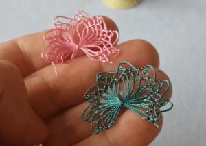 Firkete İğne Oyası Çiçek Modeli Yapımı 1