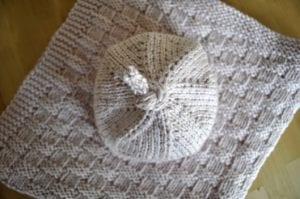 Hasır Örgü Bebek Battaniyesi Yapılış 1