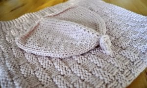 Hasır Örgü Bebek Battaniyesi Yapılış 2