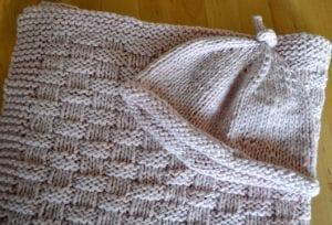 Hasır Örgü Bebek Battaniyesi Yapılış