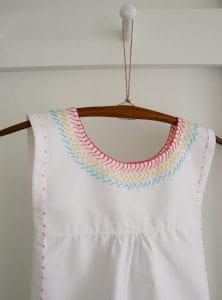 İşlemeli Kız Çocuk Pamuklu Elbise Dikimi 12