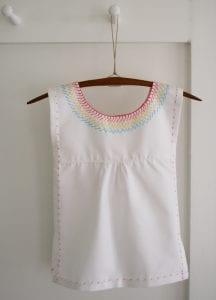 İşlemeli Kız Çocuk Pamuklu Elbise Dikimi 14