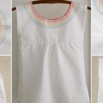 İşlemeli Kız Çocuk Pamuklu Elbise Dikimi 15