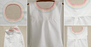 İşlemeli Kız Çocuk Pamuklu Elbise Dikimi