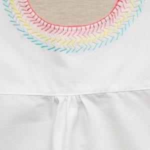 İşlemeli Kız Çocuk Pamuklu Elbise Dikimi 1