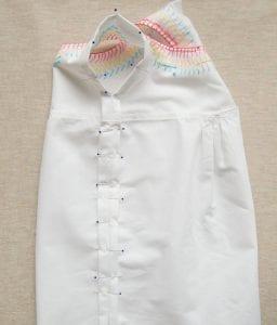 İşlemeli Kız Çocuk Pamuklu Elbise Dikimi 4