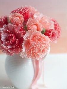 Kapkek Kağıtlarından Çiçek Yapılışı 5