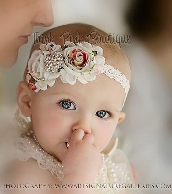 Повязки на голову для новорожденных: вязаные