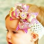 Kız Bebek Saç Bandı Mdoleleri 8