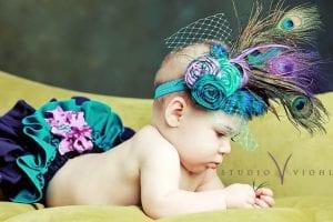 Kız Bebek Saç Bandı Modelleri