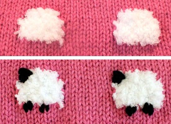 Knitting Pattern For Sheep Blanket : Kuzulu Bebek Battaniyesi Yapimi - Mimuu.com