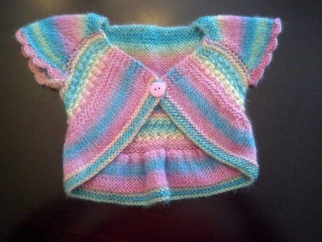 Örgü Bebek Bolero Yapımı 5