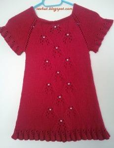 Örgü Bebek Elbisesi Nasıl Örülür? 29