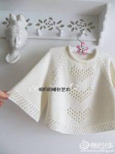Örgü Kalpli Kazak Modelleri Yapılışı 13