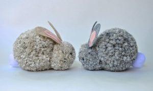 Ponpon Oyuncak Tavşan Yapımı 11
