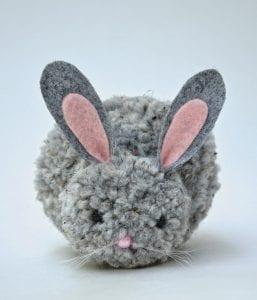 Ponpon Oyuncak Tavşan Yapımı 15