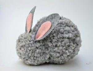 Ponpon Oyuncak Tavşan Yapımı 22