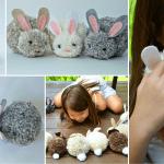 Ponpon Oyuncak Tavşan Yapımı 31