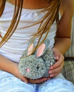 Ponpon Oyuncak Tavşan Yapımı 7