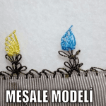 Videolu, İğne Oyası Meşale Modeli Yapılışı