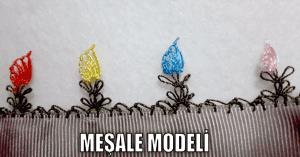 İğne Oyası Modelleri, Meşale Örneği Yapılışı
