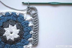 Afgan Motifli Bebek Battaniyesi Yapımı 1
