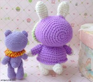 Amigurumi Kostümlü Tavşan Yapılışı 7