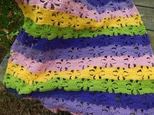 Bahar Çiçekleri Battaniye Yapılışı 7