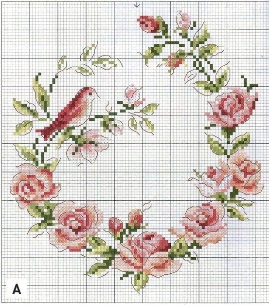 Вышивки крестом схемы мало цветов 74