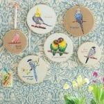Etamin Şablonları Kuş Desenleri 105