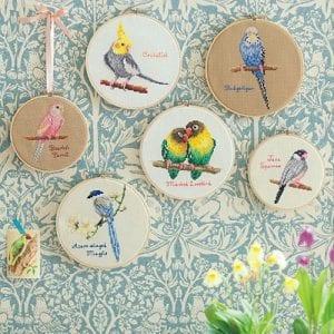 Etamin Şablonları Kuş Desenleri 103