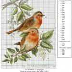 Etamin Şablonları Kuş Desenleri 11