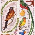 Etamin Şablonları Kuş Desenleri 12