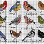 Etamin Şablonları Kuş Desenleri 16