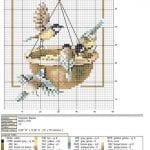Etamin Şablonları Kuş Desenleri 1