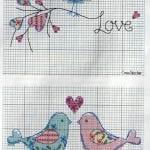 Etamin Şablonları Kuş Desenleri 24