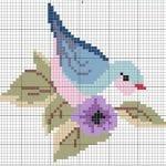 Etamin Şablonları Kuş Desenleri 36