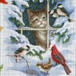 Etamin Şablonları Kuş Desenleri 3