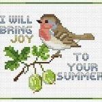 Etamin Şablonları Kuş Desenleri 44