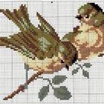 Etamin Şablonları Kuş Desenleri 48