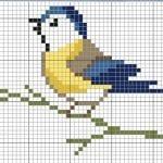 Etamin Şablonları Kuş Desenleri 54
