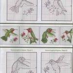Etamin Şablonları Kuş Desenleri 5