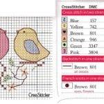 Etamin Şablonları Kuş Desenleri 61