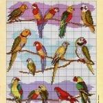 Etamin Şablonları Kuş Desenleri 62