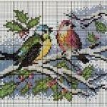 Etamin Şablonları Kuş Desenleri 66